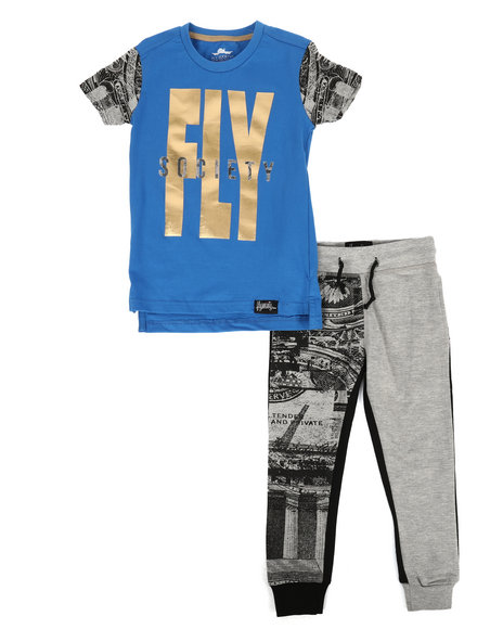 Fly Society - 2 Pc T-Shirt & Sweatpants Set (2T-4T)