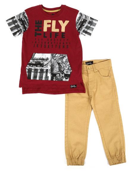 Fly Society - 2 Pc T-Shirt & Pants Set (4-7)