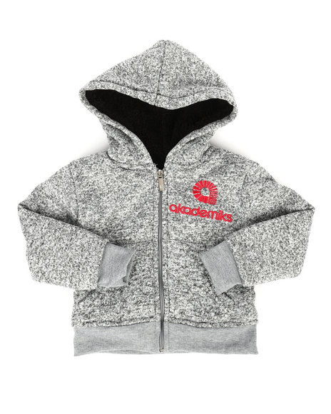 Akademiks - Marled Sherpa Lined Hoodie (2T-4T)