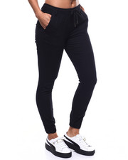 Bottoms - Drawstring Waist Twill Jogger-2305003