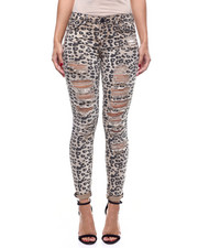 Bottoms - Animal Print 5 Pocket Skinny Jean-2304176