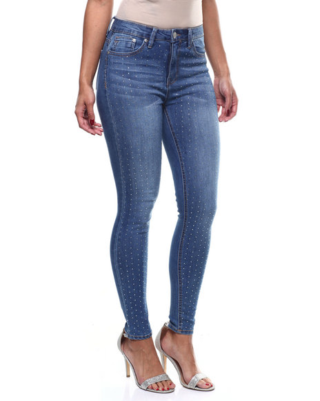 Almost Famous - Crystal Accent Front 5Pkt Skinny Jean