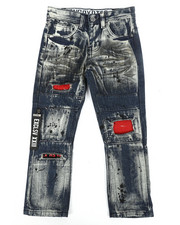 Bottoms - Zip Pull Jeans (4-7)-2304859