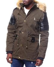 Mens-Winter - Hooded Parka w Shoulder Detail-2305095