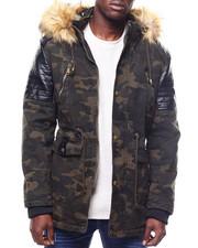 Outerwear - Hooded Camo Parka w Shouder Detail-2305088