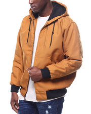 Heavy Coats - Quilted Canvas Jacket w Hood-2296655