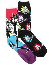 DRJ SOCK SHOP - Rick & Morty Explosion 2 Pack Crew Socks-2304834