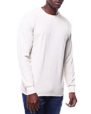 Thermals - Solid L/S Crewneck Thermal Top-2305022