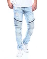 Cyber Monday Deals - Distressed Moto Jean w Zipper Detail-2305206