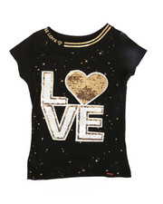 Girls - Sequined Patch Tee (7-16)-2305684