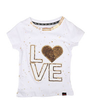 Girls - Sequined Patch Tee (7-16)-2305676
