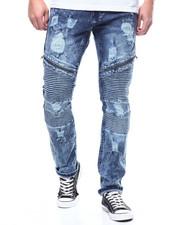 Men - Distressed Moto Jean w Zipper Detail-2305281