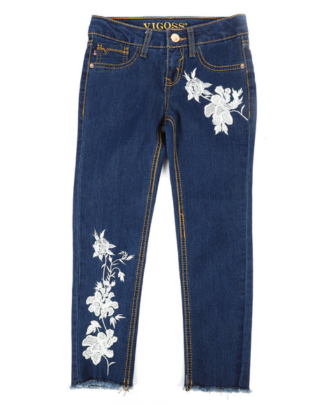 Vigoss Jeans - Antique Lace Ankle Skinny Jeans (7-16)