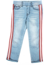 Girls - Baller Mesh Stripe Pull-On Jeans (4-6X)-2304904