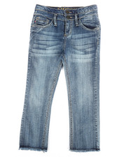 Girls - Double Stack Fray Hem Crop Jeans (7-16)-2304891