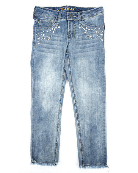 Vigoss Jeans - Fancy Pocket Ankle Skinny Jeans (7-16)
