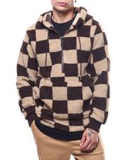 Buyers Picks - Check Pattern Sherpa Anorak Hoodie-2305734