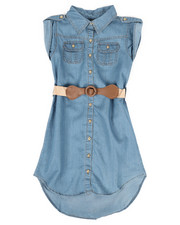 Girls - Denim Dress (7-16)-2306131