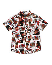 Arcade Styles - King of Spades Woven Shirt (8-20)-2306140