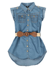 Girls - Denim Dress (4-6X)-2306017