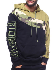 Mens-Winter - CURVED CAMO COLORBLOCK HOODIE-2306533