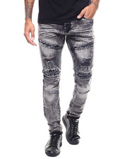 Slim - Distressed Moto Jean-2306495