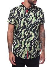 Shirts - CAMO SS BUTTON DOWN SHIRT-2306333