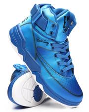 Footwear - 33 Hi Blue Satin Sneakers-2306755