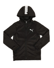 Boys - Performance Fleece Puma Zip Up Hoodie (8-20)-2306393
