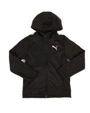 Boys - Performance Fleece Puma Zip Up Hoodie (8-20)-2306740