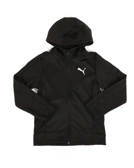 Puma - Performance Fleece Puma Zip Up Hoodie (8-20)