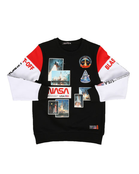 Hudson NYC - The Worm Launch Crew-neck Sweatshirt (5-18)
