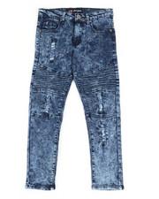 Bottoms - Washed Denim Moto Skinny Jeans (8-20)-2307184