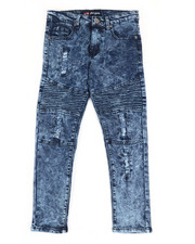 Boys - Washed Denim Moto Skinny Jeans (8-20)-2307184