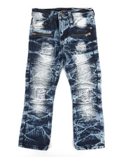Bottoms - Washed Moto Jeans (4-7)-2307158