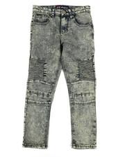 Boys - Washed Denim Stretch Moto Skinny Jeans (8-20)-2307177