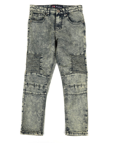 Phat Farm - Washed Denim Stretch Moto Skinny Jeans (8-20)