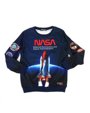 Sweatshirts & Sweaters - Nasa Spaceship Crew-neck Sweatshirt (5-18)-2307341