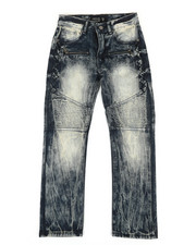 Bottoms - Washed Moto Jeans (8-20)-2307163