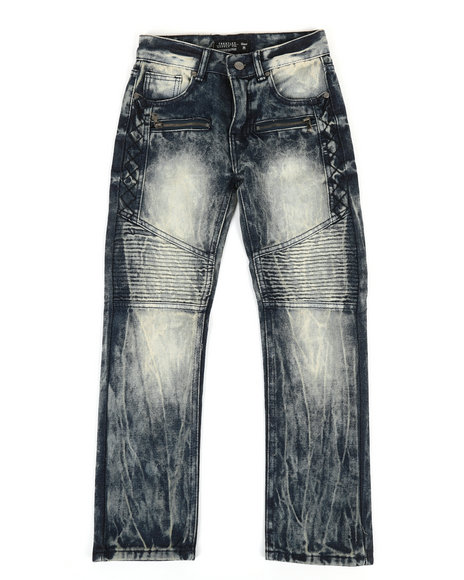 Arcade Styles - Washed Moto Jeans (8-20)