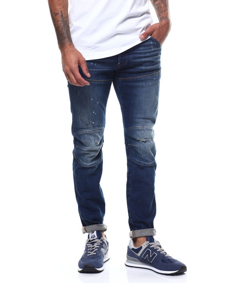 G-STAR - 5620 3D Slim Painted Ripped Jean