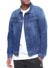 Mens-Winter - 3301 slim denim jacket-2307871