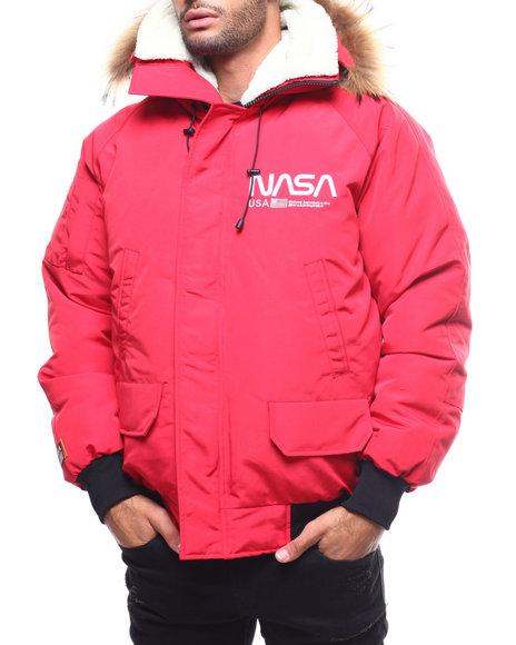 Hudson NYC - Nasa Fur Hood Bomber Jacket