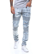 Crysp - Bron Distressed Moto Jean-2307752
