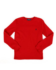 Boys - Polo Long Sleeve Waffle-Knit Shirt (8-20)-2307595