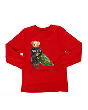 Boys - Long Sleeve Holiday Bear Jersey Tee (8-20)-2307511