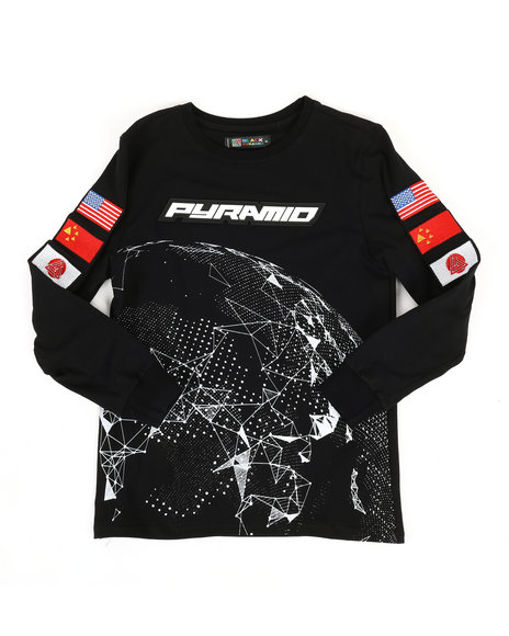Black Pyramid - Long Sleeve Pyramid Worldwide Shirt (5-18)