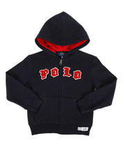 Polo Ralph Lauren - Seasonal Fleece Polo Hoodie (4-7)-2307378