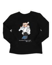 Boys - Long Sleeve Jersey Bear Tee (4-7)-2307365