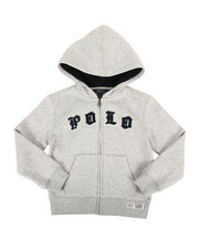Polo Ralph Lauren - Seasonal Fleece Polo Hoodie (4-7)-2307387